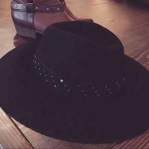 C.C Accessories - Wool Floppy Hat ~ Black NWT aa944a4c7e5